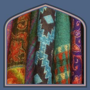 Large yak fleece shawls