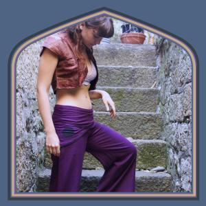 Wide leg trousers and satin bolero