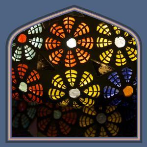 Glass mosaic lamps