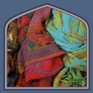 Boiled wool shawls